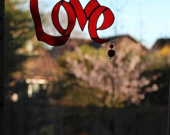 Love Script Wall Hanging/Light Catcher