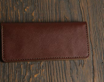 Burgundy Long Leather wallet long wallet handmade wallet leather wallet travel wallet black leather wallet gift gift for hergift for him