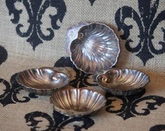 Silver over Copper Shell dish