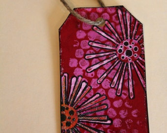 Handmade Tag & Bookmark # 12