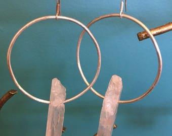 Quartz point hoops