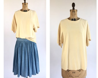 Cream Silk T-Shirt
