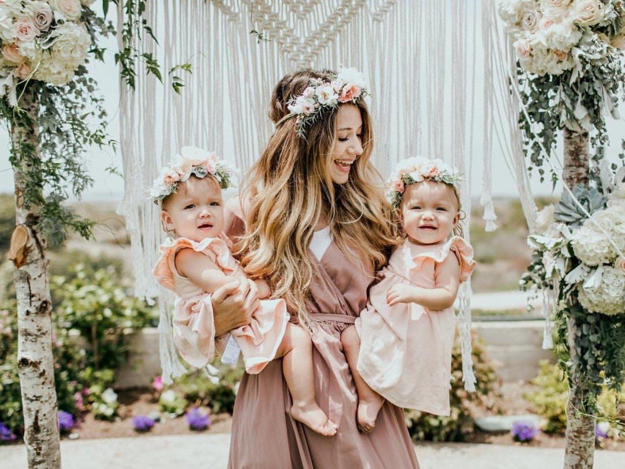 Mommy and me flower crown set newborn photo prop baby tieback mommy and me flower crown set newborn photo prop baby tieback flower crown baby flower crown toddler flower crown izmirmasajfo