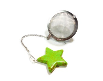 Tea Infuser with Green Star Charm