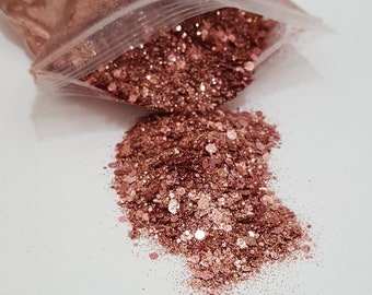 Rose Gold Chunky Custom Glitter Mix for Cups Stainless Steel Tumblers Item RGNo2