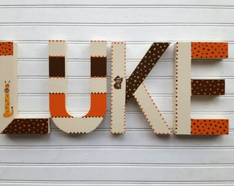 Block Font - Wall Letters - Kids Name - Name Wall Letters - Boy Name Letters - Girl Name Letters - Name Sign