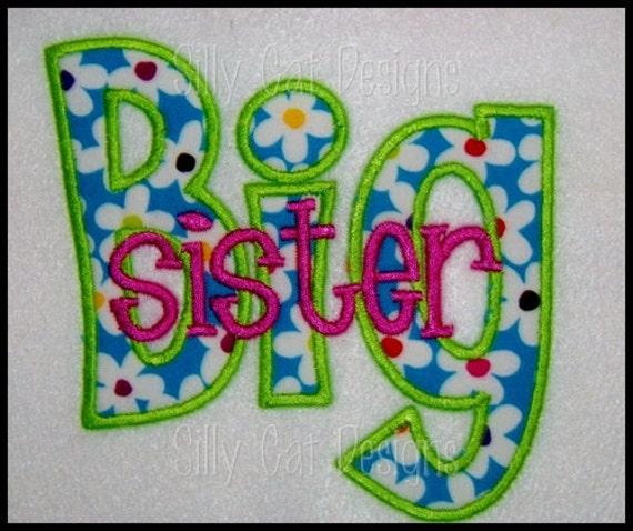 Big/Lil Sister Applique Design