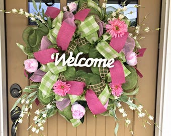 Spring/Summer Deco Mesh Wreath