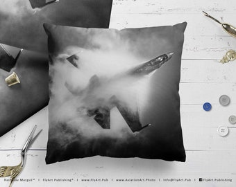Airplane Pillow, Airplane Cushion, Throw Pillow, Pilot Gifts, Home Decor, Aircraft Pillow Case, Cover, Bedding, Sukhoi Su-35S Super Flanker