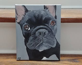 Custom 8x10 Pet Portrait Acrylic Painting