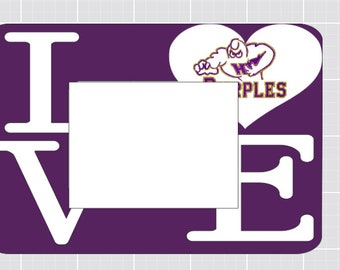 Bowling Green Purples 5x7 Picture frame