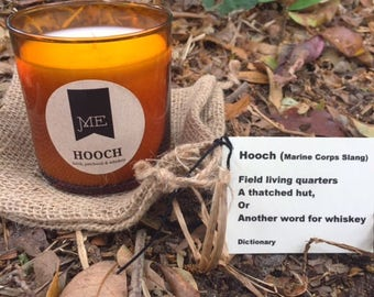 Hooch...candles for men, Marines & whiskey loving gents