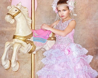 """Manhattan Dawn""""...The Perfect Flower Girl Gown. Available in your color scheme"""