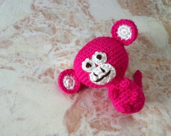 Ape amigurumi, jungle little animal toys, monkey plushie