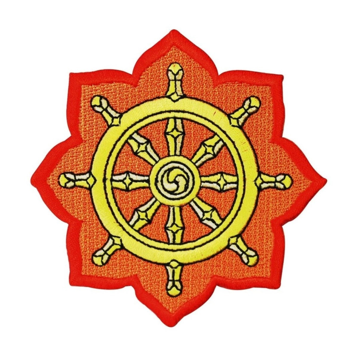 Dharmachakra dharma wheel patch buddhist symbol art decoration zoom buycottarizona Image collections