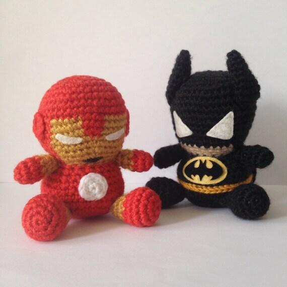 BATMAN Patrón Amigurumi Superhéroe Capa Marvel Super Heroe