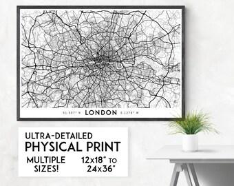 London map poster, London print, London map print, UK map, London city map, London poster, London wall art, London art print, Map of London
