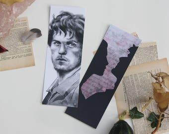 Bookmark Art drawing print, outlander bookmark bookmark jamie illustration fraser claire fraser
