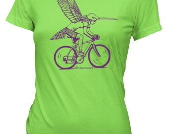 Humm Women's Tee - Lime