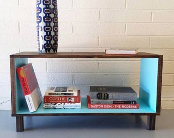 Modern Media Console, Mid Century, Vinyl Storage, Record Cabinet, Credenza, Coffee Table, Hairpin Legs, TV, Entertainment