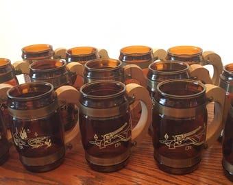 Siesta ware brown amber beer mugs