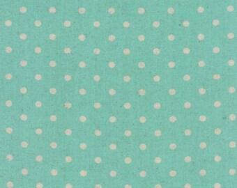 Linen MOCHI DOT in Caribbean .. Moda Fabric .. cotton/linen blend 32910 49L