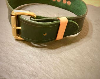 Special Edition Large Dog Collar in Kelly Green
