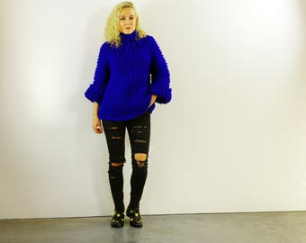 Chunky Blue Pullover