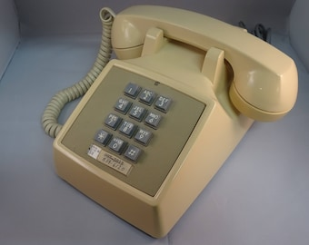Bell System Touch-Tone Push Button Desk Top Telephone By Western Electric - FREE SHIPPING