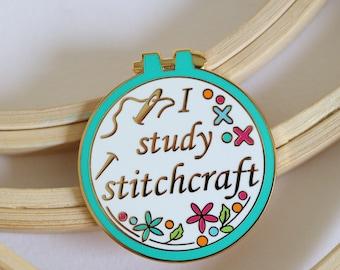sewing enamel pin, crafty enamel pin, hard enamel pin, enamel pin set,cross stitch enamel pin, pingame, embroidery enamel pin, teal