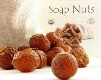 Organic 1/2 LB (120 LOADS) - Eco-Friendly Soap: Soap Berries, Chemical Free, De-Seeded