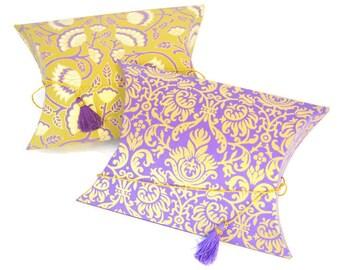 Pillow Pouch box with Tassel, Wedding Gift box, Indian wedding gift box, Favor Box Set, Ramadan gift box, Mehndi favors, Eid gift box