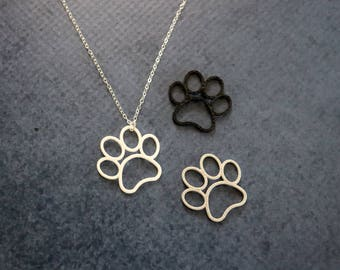 3D PRINTED Paw Print Necklace - Large