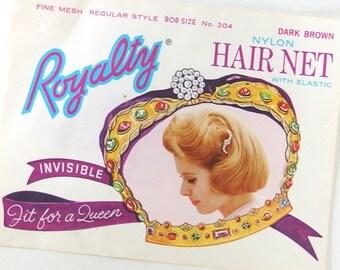 UNUSED Vintage Royalty Hair Net, Dark Brown