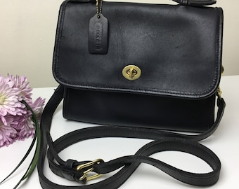 90's Coach Black Top Handle and Adjustable Strap Handbag
