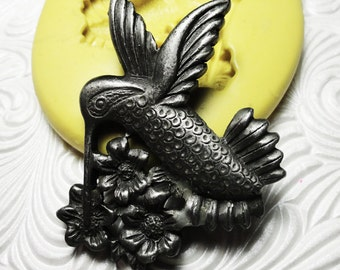 Large HUMMINGBIRD  Mold Flexible Silicone Push Mold for Resin Wax Fondant Clay Fimo Ice