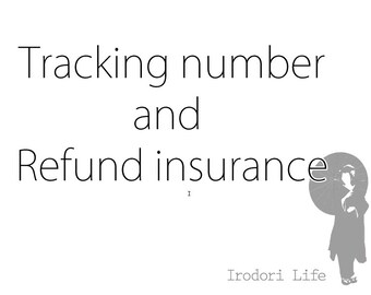 Tracking & Refund Insurance 4.5 usd (add only one per order)