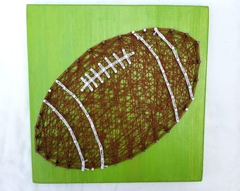 Football String Art Sports Theme Bedroom Decor or Football Coach Gift