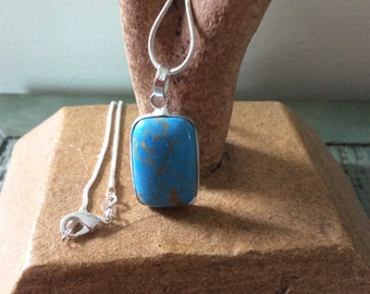 Blue Copper Turquoise Necklace