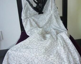 I am naked!, Babydoll, Black, Ecru, Lace, Flower pattern, Adjustable Straps