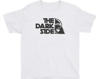 Youth The Dark Side Funny Pun Of Wars in the Stars T-Shirt - Short Sleeve T-Shirt