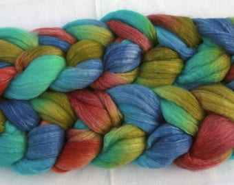 Blueface Leicester Tussah Silk Spinning Fiber - 'Be The Change'