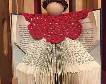 Folded Book Art - Angel