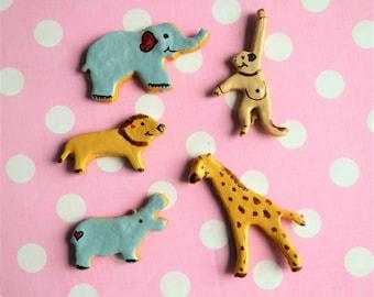 Dante's Safari Animal Cookie Box /Healthy Dog Treats /Organic Dog Treats /Dog Cookies /Dog Birthday /Dog Biscuits /Dog Gift /Pet Supplies