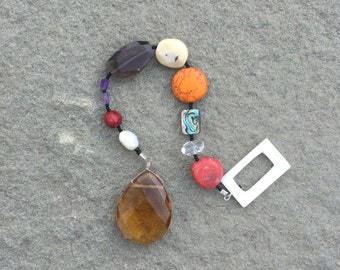 Prayer beads for guided prayer- Christian meditation/ the Tabernacle- approaching God/ natural gemstones/ handcrafted