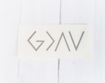 God is Greater Than The Highs and the Lows | Inspirational Decal | Christian Decal | Faith Decal
