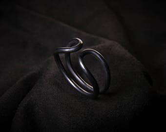 Rustic Silver ring Blackened hand Made