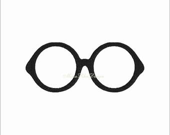 Harry Potter Glasses Machine embroidery design Instant Download