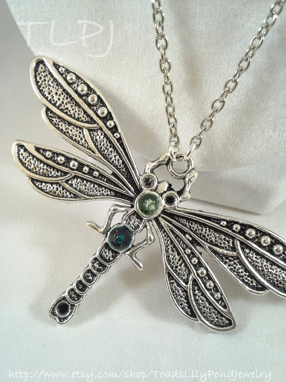 necklace dragonfly sterling pendant origami silver