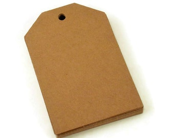 Large Paper Gift Tags in Kraft of 50